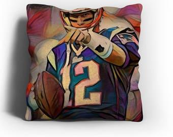 Tom Brady - Tom Brady Throw Pillow Cover,Tom Brady Art,Tom Brady Print,Tom Brady Merch,Tom Brady Gift,Modern Abs