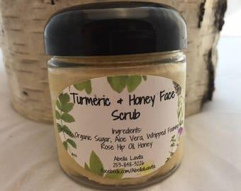 Turmeric and Honey Face Scrub