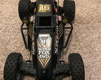 Vintage Nikko All Wheel Drive 1987 Super Fox Radio Controlled Car/ Works/ Nikko Frame Buggy