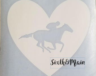 OTTB Horse Car Decal, Off the Track Thoroughbred Car Decal, Horse Car Decal, Dressage Horse Decal, Race Horse Decal
