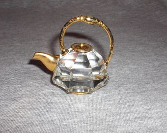 Teapot Large - miniature collectible crystal figurine