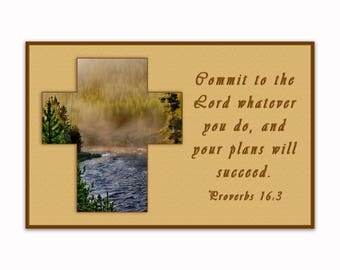 """11"""" x 17"""" Commit to the Lord - Spiritual Wall Art"""