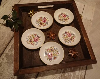 Set of 5 Vintage Royal Worcester Trinket Pin Dishes in Bournemouth Design