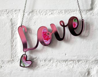 Love Necklace Pink