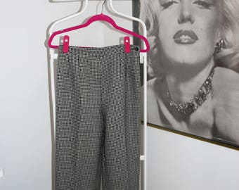 Vintage Herringbone High Waist Pants