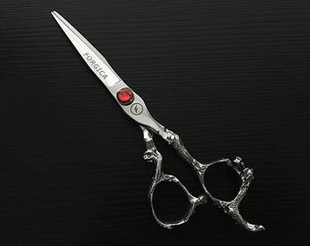 Professional Barber Shears Salon Scissors REDFLO Series | Forgica