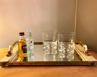 French Vintage Mirrored Tray