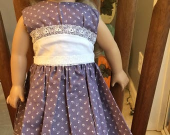"Vintage style party dress fits 18"" dolls such as American girl"