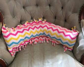 Fringed Chevron Striped Accent Pillow