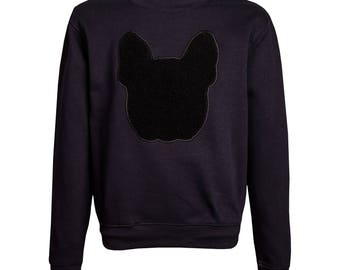 UNUSI Jumper with sewed out bulldog head design.