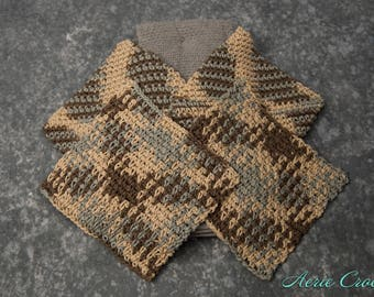 Crocheted Kitchen Set - Gray and Tan