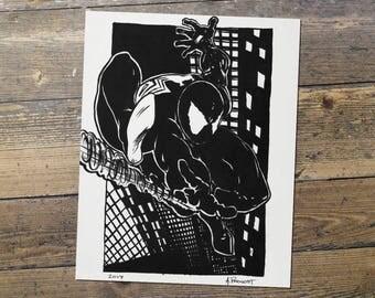 Spiderman - Marvel - Fan Art - Spiderman Print - Gift for Him
