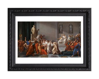 Death Of Julius Caesar by Vincenzo Camuccini Poster or Art Print