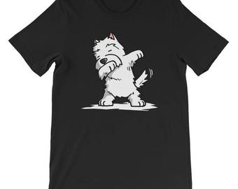 Cute Dabbing West Highland White Terrier T-Shirt Funny Westie Dog Gift