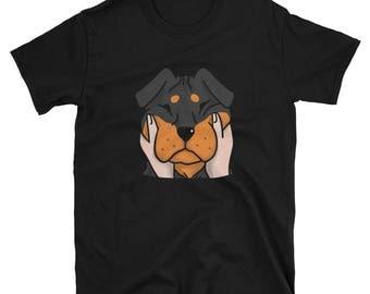 Chubby Cheeks Rottweiler Shirt, Funny Rottie Dog Gift