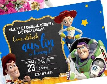 Toy story Birthday Invitation, Toy story Invite, Toy story invitation, Toy story, Birthday Invitation, Invitation