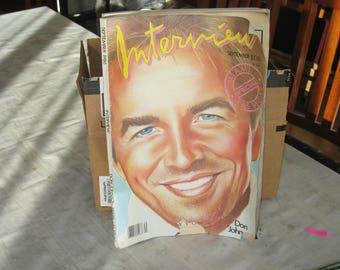 Sept. 1986 Interview Magazine. Don Johnson. Miami, Las Vegas Special