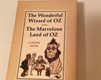 The wonderful wizard of Oz and the marvelous land of Oz, Two book set in original box, 1960.