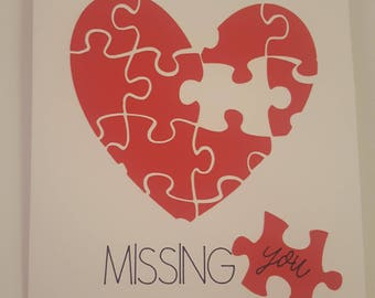 Missing you, I miss you, Greeting Card