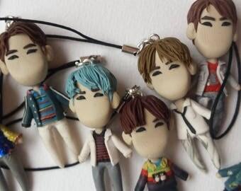 BTS DNA kpop keychain chibi keychains korea phone strap one member or set miniature dolls