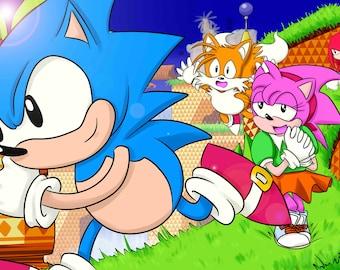 Classic Sonic 8x10 Print