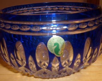 """Waterford Blue Clarendon 6"""" Crystal Bowl"""