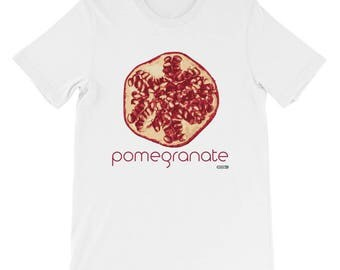 Pomegranate T-Shirt - Mens - Foodie - Chef - Organic