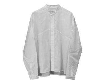 Oversized Collarless Shirt