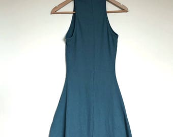 Size M Womens AUD //Turquoise // Turtleneck Dress