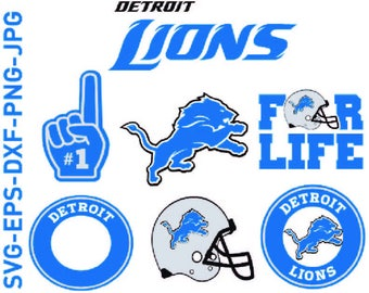 Detroit Lions, detroit svg, Football, NFL - Cut Files - SVG PNG dxf, , digital files, silhouette studio, Svg cameo,Cutting files, Design