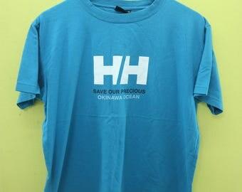 Vintage Helly Hansen T Shirt Gear Outdoor Sport Wear Top Tee Size XL