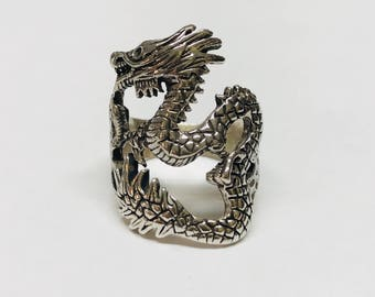 Ring silver 925 Dragon Rilver ring