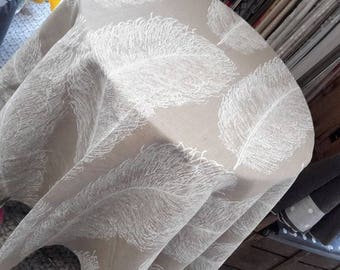 Feather 100% linen tablecloth