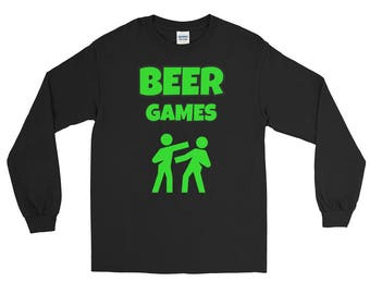 Beer Drinking Shirt Gift Beer Games Long Sleeve T-Shirt