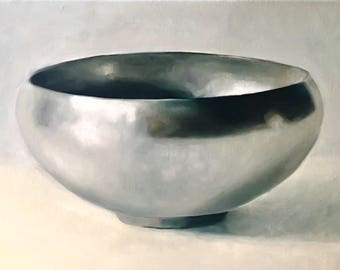 Silver Bowl III Limited edition gyclee print