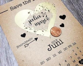 50 Save the date scratch-cards | Einadungen