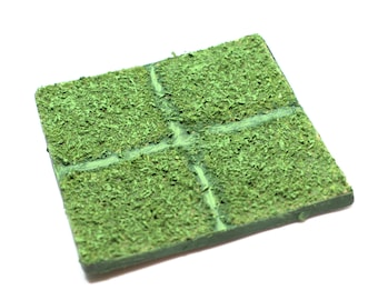 Dungeons and Dragons terrain grass tile DnD pathfinder grass tiles campaign map accessories decor