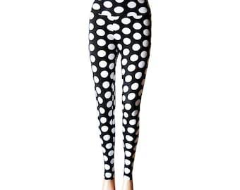High Waist Leggings/Striped Leggings/Yoga Pants