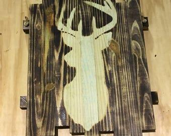 Deer head artwork