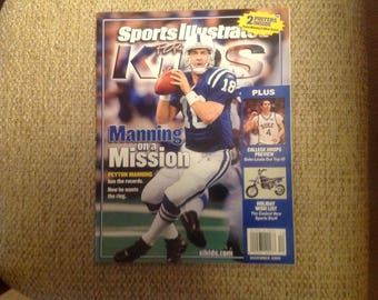 Sports Illustrated for kids Dec. 2005  Manning & Arenas posters plus cards No M/ L