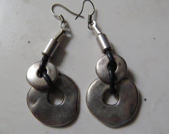 Silver drop earings