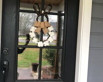 Bunny Cotton Wreath