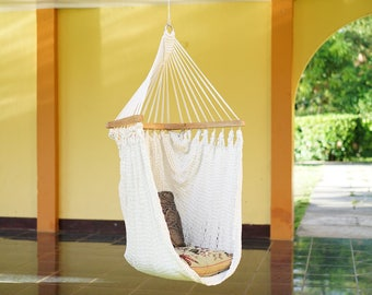 Natural White Special Hammock Swing Chair Design