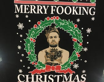Connor McGregor ugly Christmas sweater