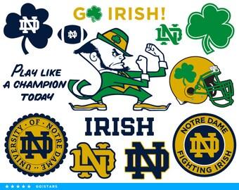 Fighting Irish svg – Notre Dame svg – Fighting Irish clipart – Notre Dame clipart – Shamrock svg – raster vector files – svg pdf png dxf eps