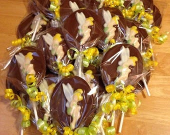 Tinkerbell Chocolate Lollipops