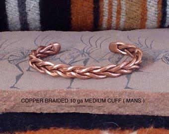 Braided copper cuff