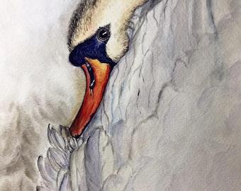 Watercolor Painting - Swan Song