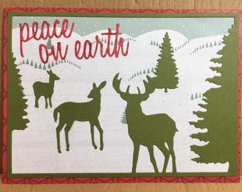 Deer and Forest Animal Christmas Cards