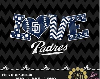 San Diego Padres svg,png,dxf,cricut,silhouette,jersey,shirt,proud,birthday,invitation,sports,cut,girl,love,softball,2018 new,decal,bear,svg
